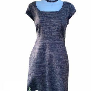 Attention Elegant Casual Gray Mix Sheath Dress